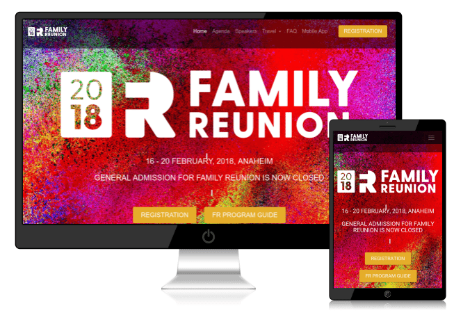 Keller Williams Family Reunion - Responsive Website